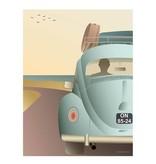 Poster Vissevasse - VW beetle - 2 maten