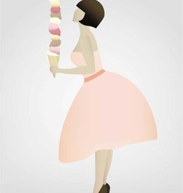 Poster Ice cream lady - 30x40 - Vissevasse