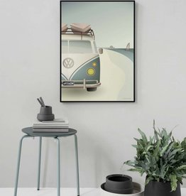 Poster Vissevasse - VW Camper - 2 maten