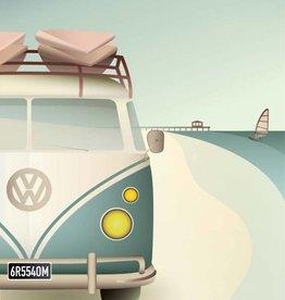 Poster VW Camper - 3 maten - Vissevasse