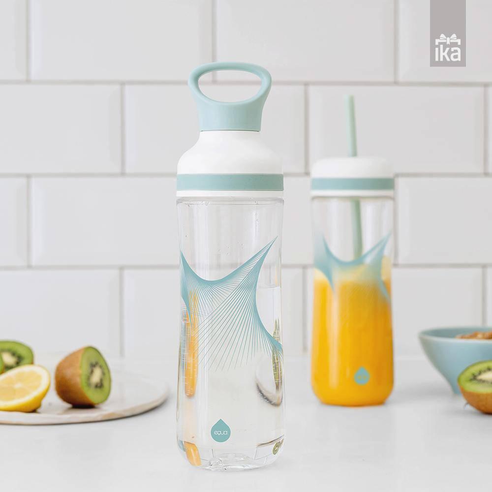 Equa waterfles met smoothie cup - Wave