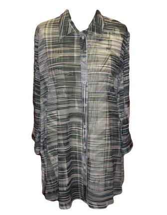 grijs gestreepte blouse van 100% katoen