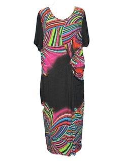 soepele kleurrijke jurk maat 52