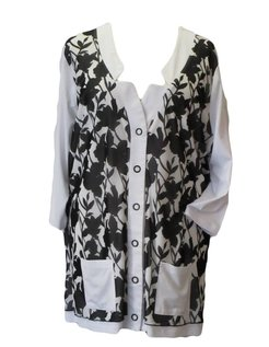wit vest met dubbele voorkant maat 50