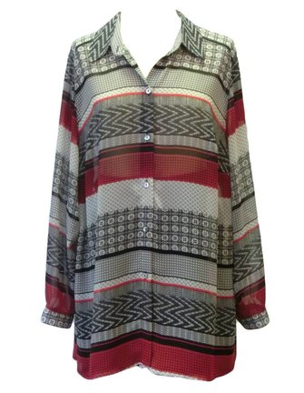 rood grijze blouse maat 52