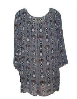 moderne blouse met kleine print maat 58