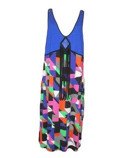 mouwloze jurk in vrolijk patroon maat 44
