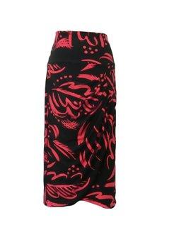 zwart rode rok maat M (42-44)