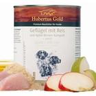 Hubertus Gold Menu Kip met rijst en appel peer compote & lijnzaadolie.