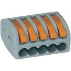 wago verbindingsklem 5 x 0.08 -2,5mm