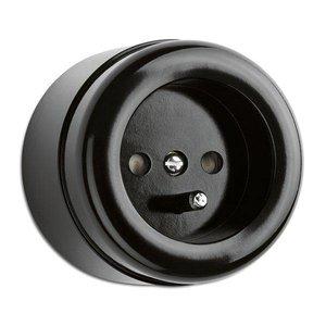 Opbouw stopcontact zwart