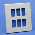Bticino 506/6/R magic ivoor Afdekplaat 6 modules