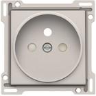 Niko afwerkingsset, grijs, stopcontact, inbouwdiepte 21mm, Niko 102-66101