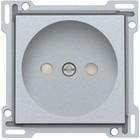 Niko afwerkingsset, zilver, stopcontact, zonder penaarde, 103-66501