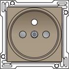 Niko afwerkingsset, bronze, stopcontact inbouwdiepte 21mm Niko 123-66101