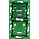 Niko Tweevoudige, verticale muurprint voor combinatie met aansluitunit, centerafstand 60mm