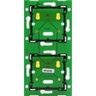 Niko Tweevoudige, verticale muurprint voor combinatie met aansluitunit, centerafstand 71mm