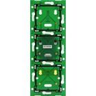Niko Drievoudige, verticale muurprint voor combinatie met aansluitunit, centerafstand 60mm