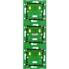 Niko Drievoudige, verticale muurprint voor combinatie met aansluitunit, centerafstand 71mm