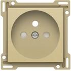 Niko afwerkingsset, Alu look Gold, stopcontact inbouwdiepte 28,5mm Niko 221-66601