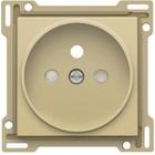 Niko afwerkingsset, Alu look Gold, stopcontact inbouwdiepte 21mm Niko 221-66101