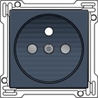 Niko afwerkingsset, Alu Look Grey Steel, stopcontact inbouwdiepte 28,5mm Niko 220-66601