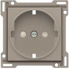 Niko afwerkingsset, bronze, stopcontact inbouwdiepte 28,5mm randaarde