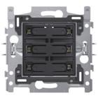 Niko 6-voudige drukknop amber LED - 170-60150