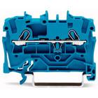 wago rijgklem 2 verbindingen, 0.25 - 4mm, blauw