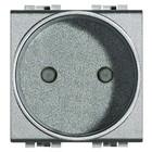 Bticino LL - contactdoos, zonder aarding - aluminium kleur