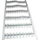 wago markering horizontaal 51-100 (2x), wit