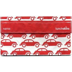 Lunchskins Rode Auto: het milieuvriendelijke snackzakje.