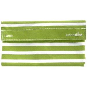Lunchskins Groen Gestreept: het milieuvriendelijke snackzakje.