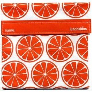 Lunchskins oranje sinaasappel: het milieuvriendelijke en herbruikbare boterhamzakje.