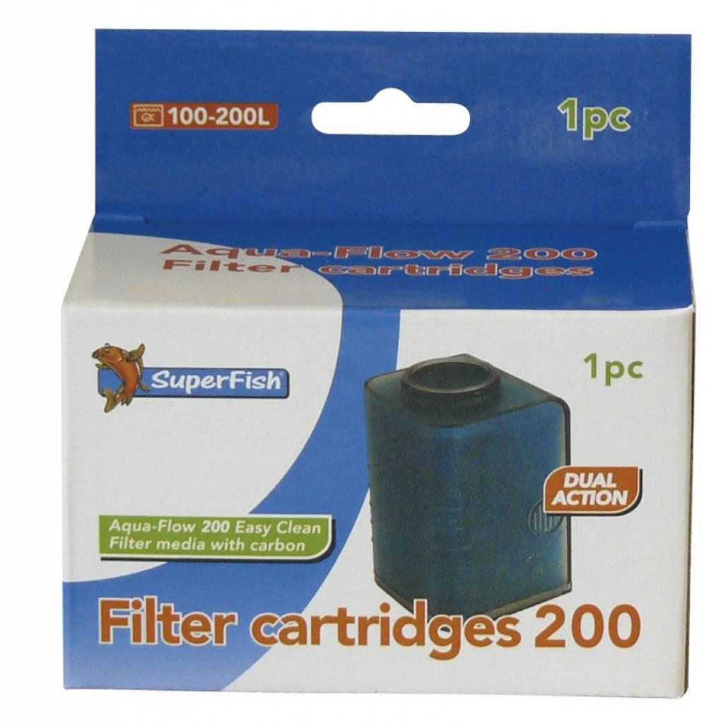Superfish aqua flow 200 filter cartridge for Zwembadpomp action