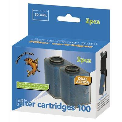 Superfish aqua flow 100 filter cartridges for Zwembadpomp action