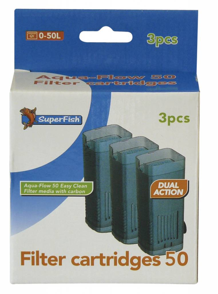 Superfish aqua flow 50 filter cartridges for Zwembadpomp action