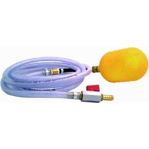 Opblaasbare buisafsluiter 92 - 145 mm met 3 mtr slang