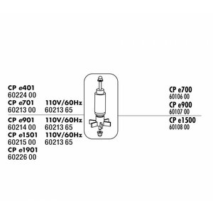 JBL CRISTALPROFI E900 ROTOR MET AS + RUBBERLAGER