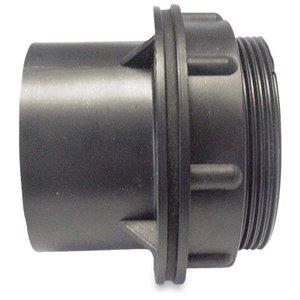 Doorvoer geschroefd ABS 40 mm lijmmof zwart