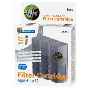 Superfish Aqua-Flow 50 Crystal Clear cartridges