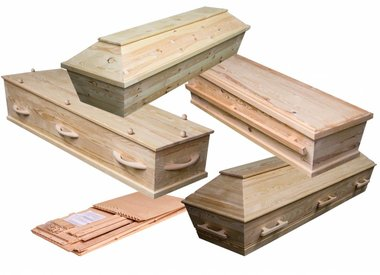 echte houten grafkisten