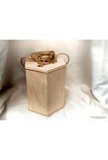BUDGET eco-urn van berken hechthout met koord