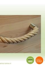 ECO pine ALLURE sturdy - echte grenenhouten kist + bekleding en met 6 touwgrepen