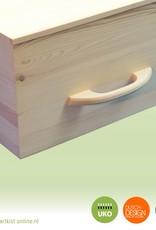 """Algemene UKO producten Losse houten grafkist handgrepen, gebogen model """"Classic"""" 6 of 8 stuks"""