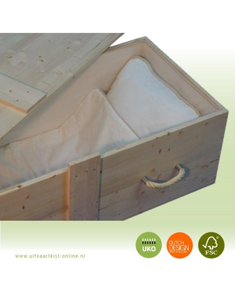 Naaldhout SAILOR zeemanskist - eco grafkist in grenen met touwgrepen