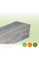 Eikenhout ELEGANCE classic eiken – ambachtelijk gemaakte moderne massief eiken grafkist met 8 afgeronde grepen. Compleet en gebruiksklaar geleverd.