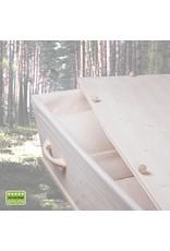 Naaldhout ARDENNE– naaldhouten grenen grafkist met 8 afgeronde grepen. Compleet en gebruiksklaar geleverd.