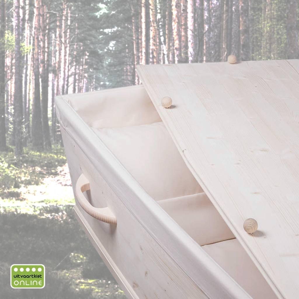 ECO pine ARDENNE– naaldhouten grenen grafkist met 8 afgeronde grepen. Compleet en gebruiksklaar geleverd.