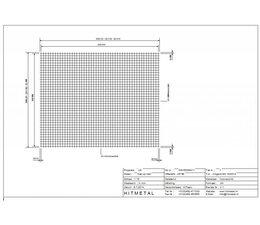 Draaddiameter 3,0, Afmeting 2500 x 2000 mm
